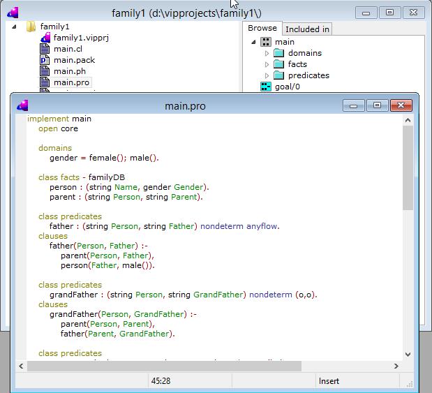 visual prolog: