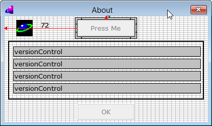 Dialog Editor: About Dialog with new button
