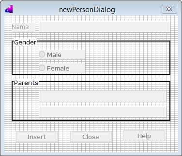 New Person Dialog